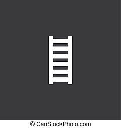 Yellow Icon Isolated on a Grey Background - Ladder