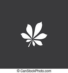 Yellow Icon Isolated on a Grey Background - Leaf2