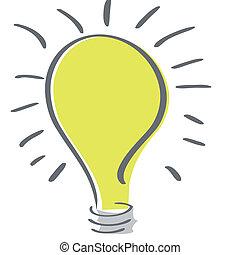 lightbulb - a yellow lightbulb in a white background