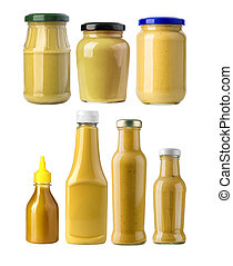 A yellow mustard bottle