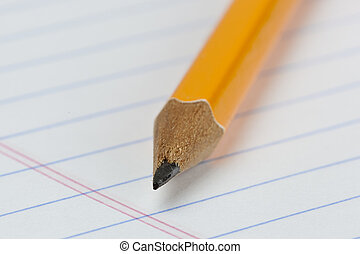 A yellow pencil