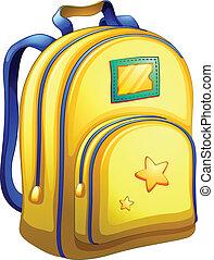 A yellow schoolbag
