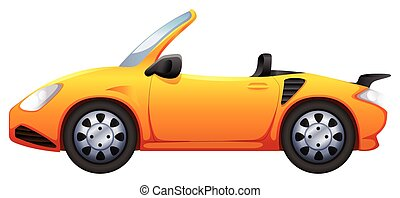 A yellow sports car