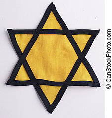 Star of David - A yellow Star of David