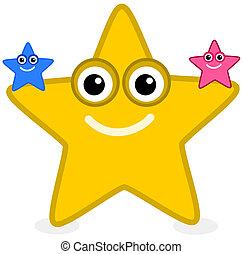 a yellow starfish