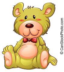 A yellow teddy bear