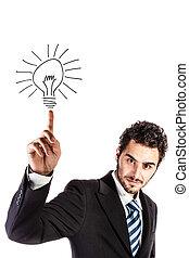 businessman with an idea