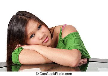 Beautiful Hispanic Woman - A young Beautiful Hispanic Woman...