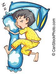 A young boy sleeping soundly