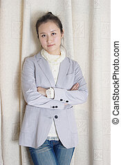 A young Chinese woman