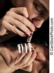 drug-addict woman
