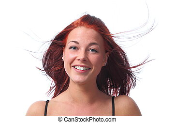 Young dynamik redhaired woman - A Young dynamik redhaired...