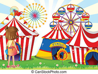 A young girl at the carnival