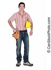 A young handyman.