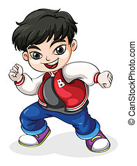 A young hiphop dancer - Illustration of a young hiphop...