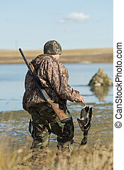 A young Hunter - A young duck hunter on a nice autumn day