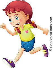 A young lady running