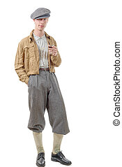 young man retro style, 40, vintage clothes