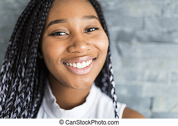 young pretty african-american girl posing