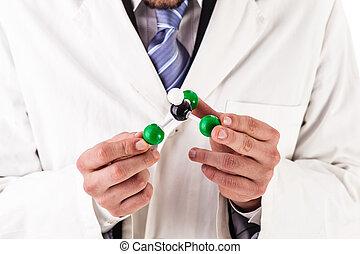 holding the chloroform molecular structure
