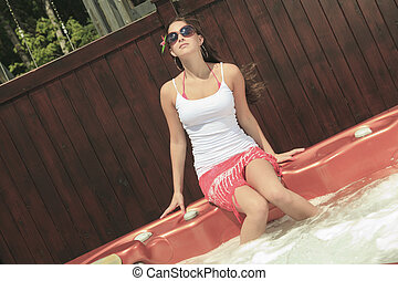 A Young teen having good time in SPA