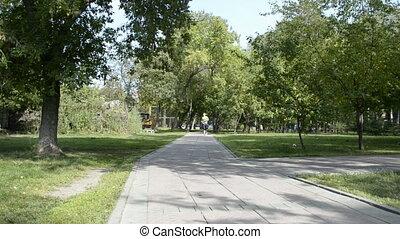 A young woman jog