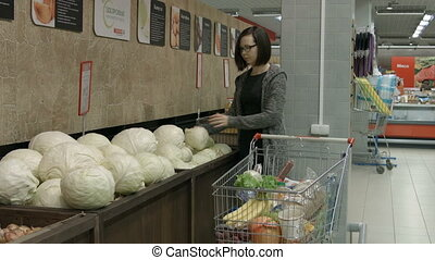 A young woman visiting a store