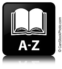 A-Z (book icon) black square button