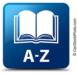 A-Z (book icon) blue square button