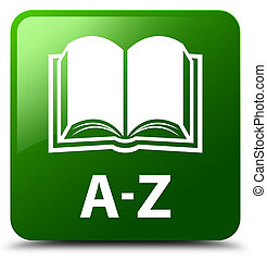 A-Z (book icon) green square button