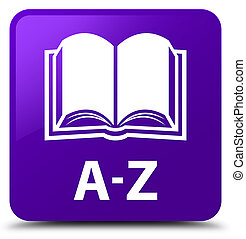 A-Z (book icon) purple square button