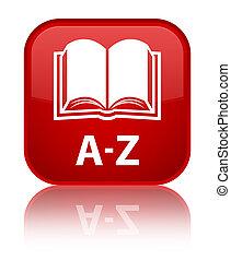 A-Z (book icon) special red square button