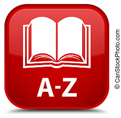 A-Z (book icon) special red square button