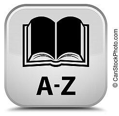 A-Z (book icon) special white square button