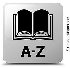 A-Z (book icon) white square button
