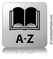 A-Z (book icon) white square button