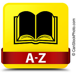 A-Z (book icon) yellow square button red ribbon in middle
