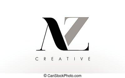 A Z Letter Logo Design Creative AZ Letters Icon