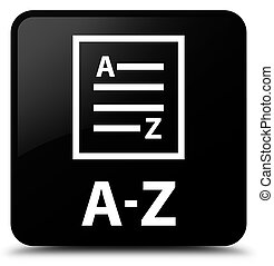 A-Z (list page icon) black square button