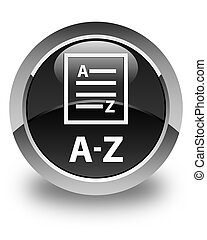 A-Z (list page icon) glossy black round button