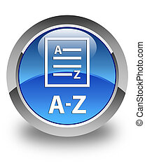A-Z (list page icon) glossy blue round button