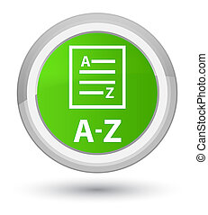 A-Z (list page icon) prime soft green round button
