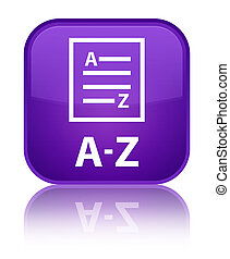 A-Z (list page icon) special purple square button