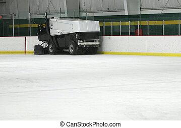 A Zamboni Ice Machine - A zamboni ice machine resurfacing...