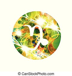A zodiac sign of capricorn, vector illustration