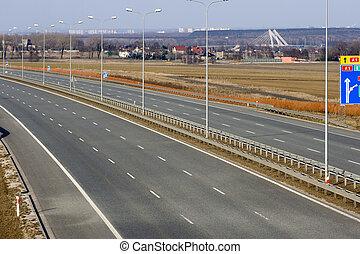 a1, autopista, polonia, vacío