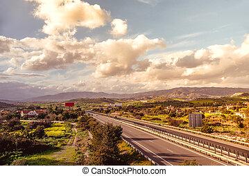 a1, construido, autopista, autopista, lo más de largo ...