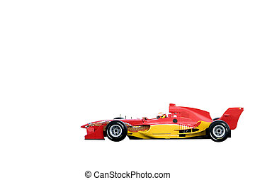 A1 Grand Prix car isolated against a white background.