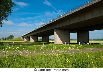 A1 motorway at Deventer Netherlands. This is the main west-east connection in the Netherlands. It leads from Amsterdam to Berlin in Germany.
