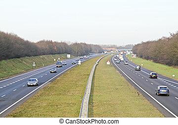 a1, países bajos, tráfico, carretera